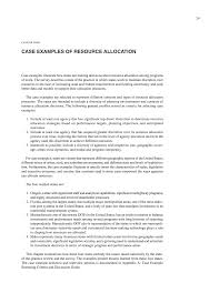 chapter four case examples of resource allocation resource