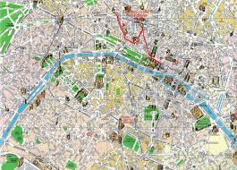 Paris Train And Metro Map by Street Map Of Paris Map Of Paris With Landmarks Map Of Paris