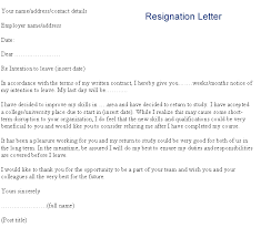 Example Of A College Resume by 17 Example Of A Resignation Letter One Month Notice Sendletters Info