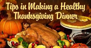 tips in a healthy thanksgiving dinner