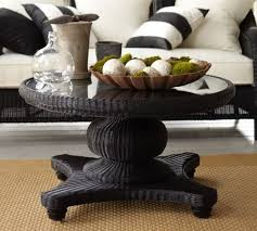 Pedestal Coffee Table Palmetto All Weather Wicker Pedestal Coffee Table Black