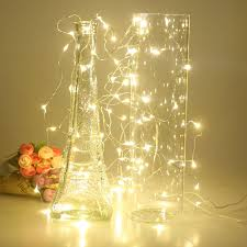 5pc copper led string lights 10m 100leds battery operated