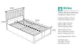 birlea phoenix white wooden ottoman storage frame from 309 beds
