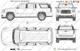 gmc yukon white 2017 the blueprints com vector drawing gmc yukon xl denali
