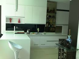 Kitchen Cabinet Design For Apartment by Kitchen Captivating Apartment Kitchen With Black Backsplash Also