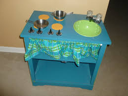 our pinteresting family play kitchen out of tv stand