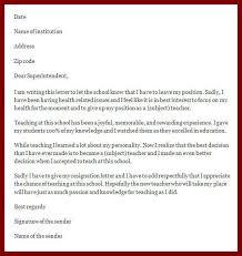 13 teacher resignation letter to principal sendletters info