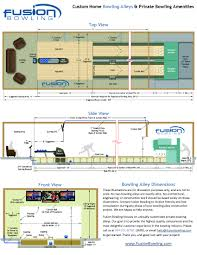 Standard Floor Plan Dimensions by Bowling Alley Lane Dimensions