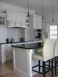 Black And White Tile Kitchen Backsplash by Tile Backsplash White Cabinets Black Countertops This Pin And More