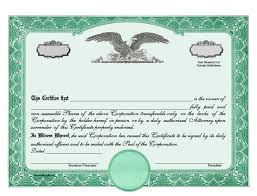 stock certificate template word template examples