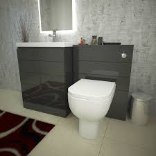Vanity Basins Online Mercury Grey Vanity Basin And Wc Unit Inc Toilet Buy Online At
