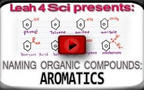 naming aromatics and orto meta para substitutents on benzene