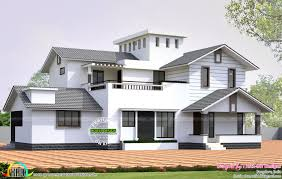 home design january kerala and floor plans slope roof house