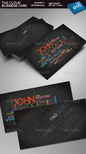 Print Business Cards Word Tag Cloud Business Card By Kimiwa Graphicriver