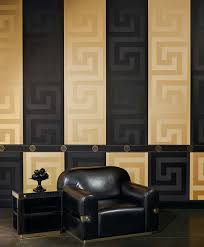 versace u0027greek key u0027 designer luxury satin wallpaper in black