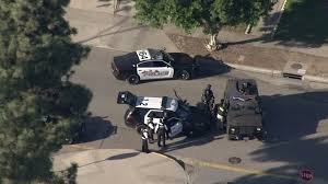 swat vehicles police suspect dead after opening fire in azusa neighborhood 1