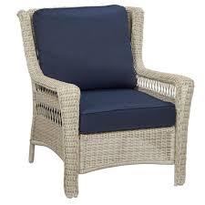 Hampton Bay Wicker Patio Furniture Hampton Bay Park Meadows Off White Stationary Wicker Outdoor