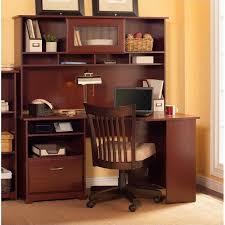 60 desk with hutch bush cabot 60 corner computer desk with hutch in harvest cherry