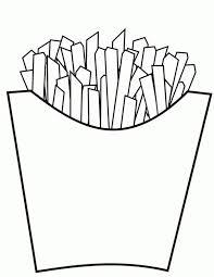 junk food delicious fries coloring junk food delicious fries