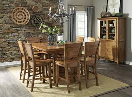 john thomas furniture canyon 7 piece extension pub dining room set