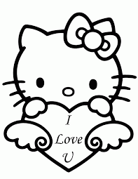 kitty valentines coloring pages wonderful coloring