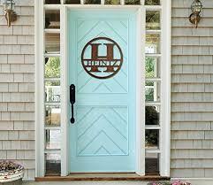initial home decor amazon com monogram front door circle last name initial door