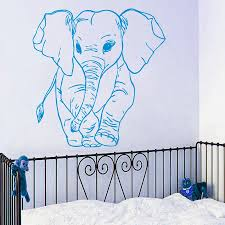 online buy wholesale elephant wall mural from china elephant wall little elephant pattern wall sticker for home nursery bedroom decor vinyl wall murals cute elephant patterned