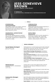 Social Media Community Manager Resume Social Media Strategist Resume Samples Visualcv Resume Samples