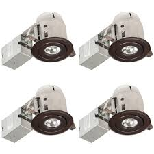 new construction led recessed lighting kit globe electric 3 in oil rubbed bronze swivel recessed lighting kit