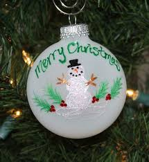 personalized snowman ornament handcrafted