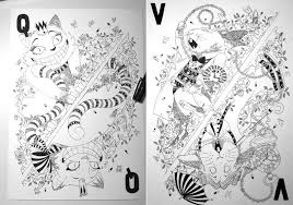 beautiful illustrated card deck inspired alice wonderland