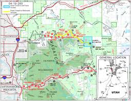 Road Map Utah by Uinta Wasatch Cache National Forest News U0026 Events