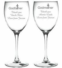 godmother wine glass personalised engraved wine glass godmother godfather godparents