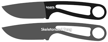 Different Kinds Of Kitchen Knives by Knife Tangs Fixed Blade Traits Knife Depot