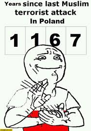 Hands On Face Meme - 1167 years since last muslim terrorist attack in poland meme