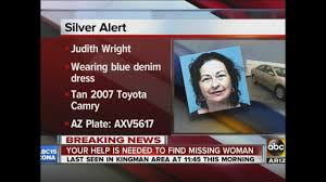 Wildfire Kingman Az by Silver Alert Issued For Woman Judith Wright Missing From Kingman