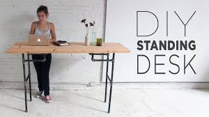 Cheap Standing Desk Ikea by Diy Standing Desk Youtube