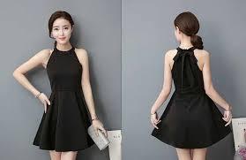 dress pesta dress pesta cantik hitam polos 2017 myrosefashion
