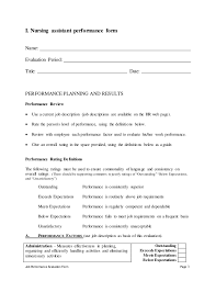 resume evaluation form cna resume sample nursing skills and professional experience job