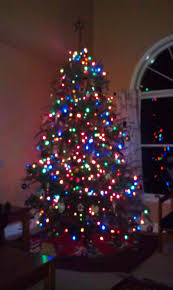 artificial tree market lights u happy holidays tree colored