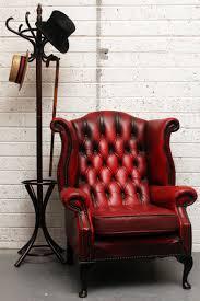 Leather Queen Anne Chair Ox Blood Leather Queen Anne Chair Astór