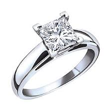 ben moss engagement sets 1 00 carat princess cut canadian diamond 14k white gold solitaire