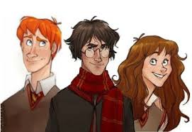 Life With Hermione What Do Harry Hermione And Ron Look Like In The Books Quora