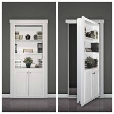 Storage Bookcase With Doors Decorations Comely Secret Bookcase Door With Three Tier Shelves