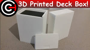 3d printed trading card deck box youtube