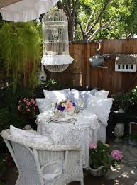hanging wicker bird cage chair patio shabby chic style with