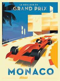 modern vintage poster car mads berg illustration sport