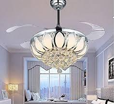Dining Room With Ceiling Fan by Luxury Modern Crystal Chandelier Ceiling Fan Lamp Folding Ceiling