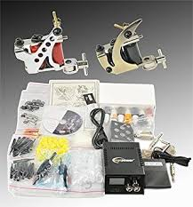 tattoo kit without machine amazon com complete tattoo kit 2 tattoo machine kit with power