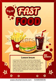 poster ad fast food advertising billboard stock vector 516809935